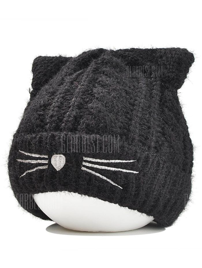 a16cd4c3171 Only  5.86,buy Cute Kitty Ear Embellished Crochet Knitted Beanie at  GearBest Store with free shipping.