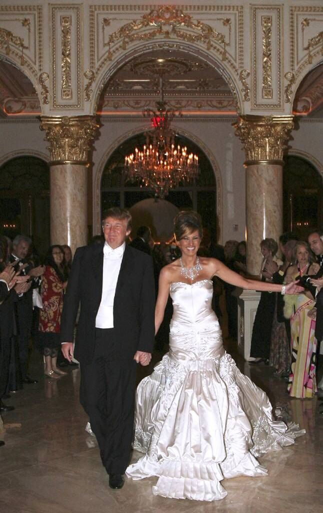 The Most Expensive Celebrity Weddings By The Numbers From 80 000 Cakes To 500 000 Dresses The Finishing Touches That Break The Bank E Online Celebrity Wedding Dresses Trump Wedding Dress Trump Wedding