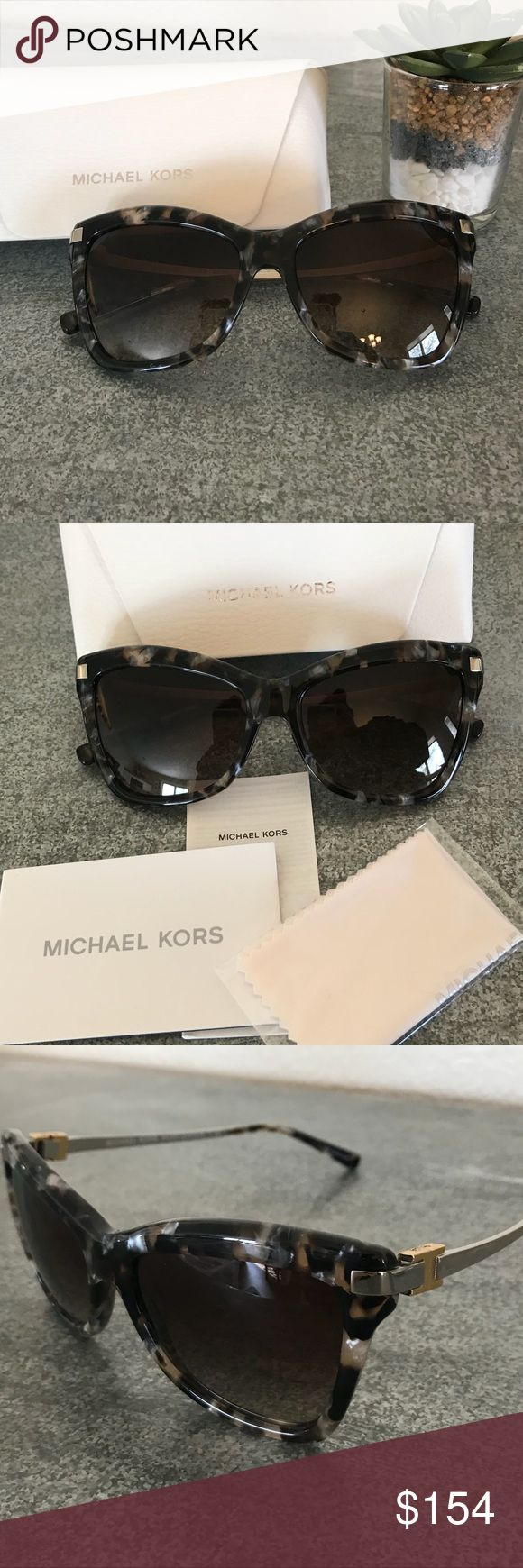 [Michael Kors] Pearl Tortoise Cat Eye Sunglasses [Michael Kors] Audrina III Brown Mosaic (Pearl Tortoise) Cat Eye Sunglasses. Um... get these before I keep them! They are that incredible! Michael Kors Accessories Sunglasses