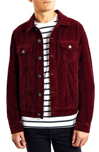 Topman Red Corduroy Jacket Available At Nordstrom Dudes In