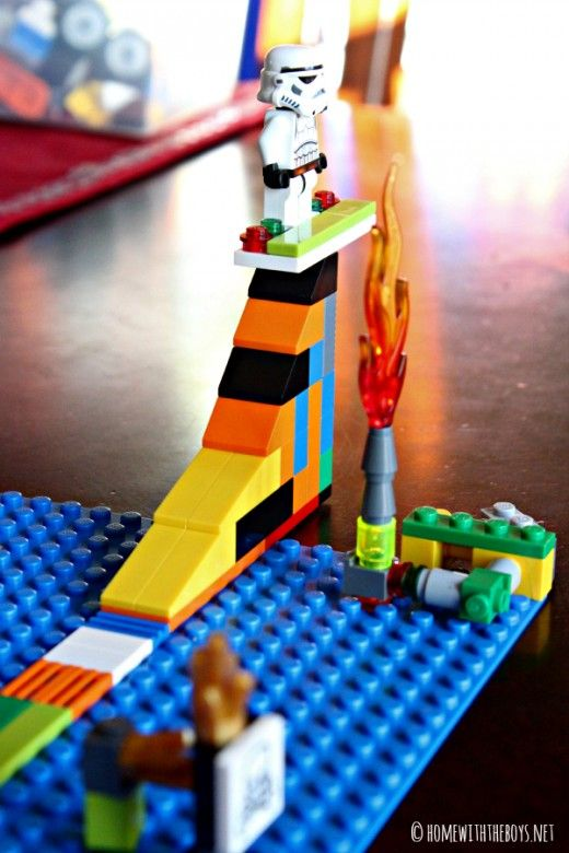 Kid-Created Lego Snowboard Course - just in time for the Winter Olympics! #olympics