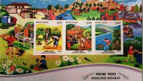 Welcome initiative of Postal-department in issuing 'Swachh Bharat' stamps