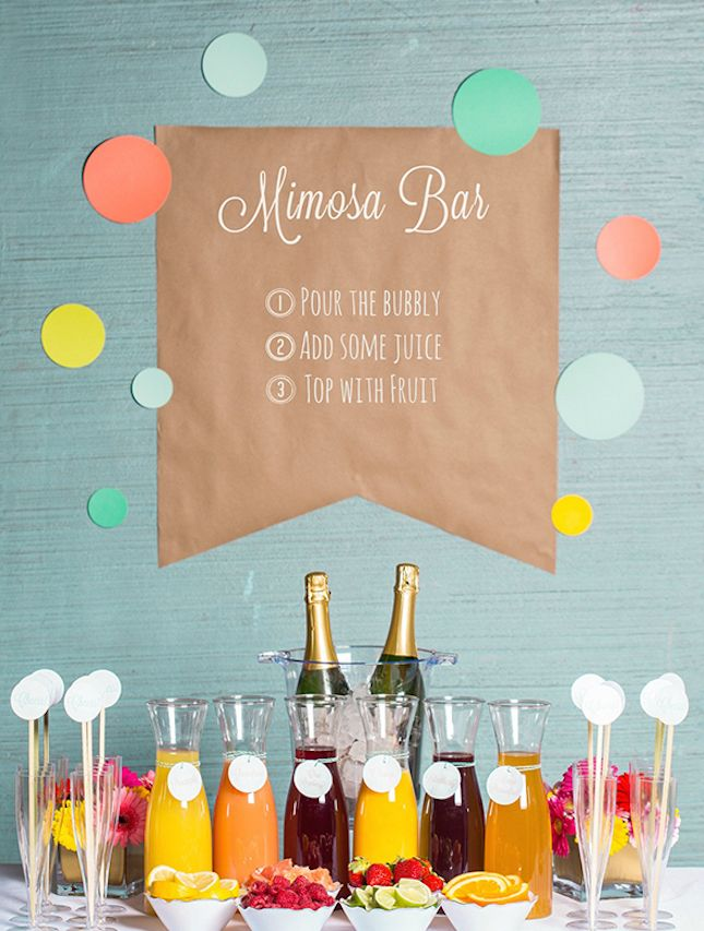 Add a mimosa bar your bridal shower.