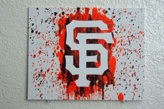 San Francisco Giants Melted Crayon Art by MikeAndKatieMakeArt