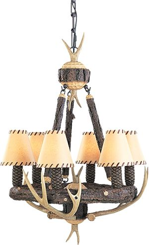 Clearance Monte Carlo GL6CHWI Great Lodge Antler Chandelier $478.80 The Great Lodge Lighting Collection in Weathered Iron Finish Fresh style & attitude. Born on the frontier. Natures's own design elements grace this grand collection of lighting and Ceiling fans.