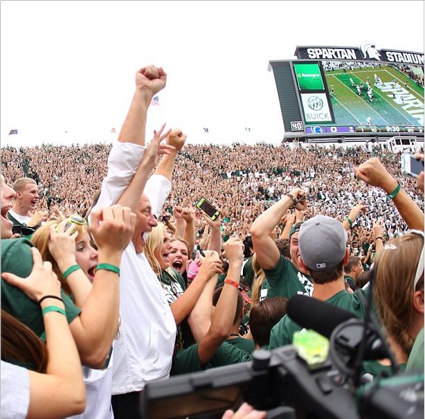 Tom Izzo Watches Michigan State Games From Student Section