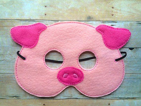 Schwein fühlte Maske von lilliannamarie auf Etsy