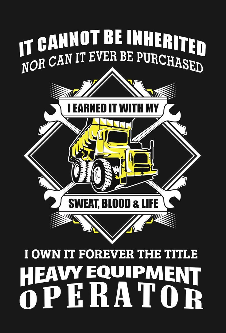 T-shirt design questionnaire - Heavy Equipment Operator Design