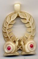 Carved bone Laurels wreath by Bonecarverpm. This is my Laurel medallion.