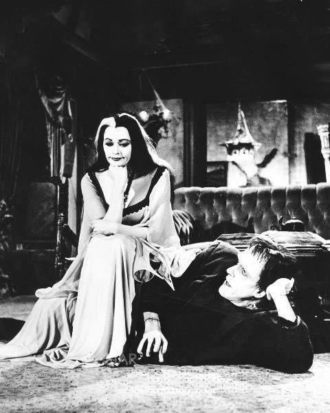 gothicrealm:    Lily Munster and Herman Munster