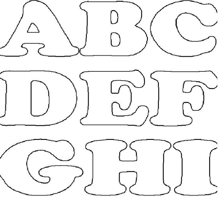molde em feltro tamanho original de letras - Pesquisa Google