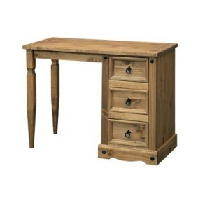 £129 Corona Mexican Pine Single Pedestal Dressing Table CR518  http://www.easyfurn.co.uk/solid-oak-furniture-Bedroom/Corona-Mexican-Pine-Bedroom/Corona-Mexican-Pine-Dressing-Table