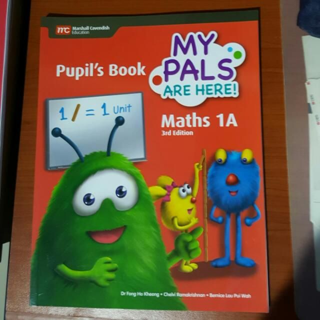 For salePrimary 1A My Pals Are Here Maths Textbook
