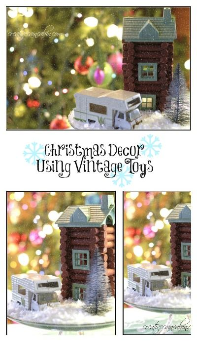Christmas Decorating using Vintage Toys