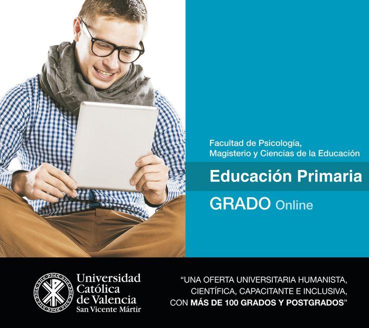 #Grado en #Educación #Primaria #online de la #UCV. #Magisterio #CercaníaUCV #TuGradoUCV