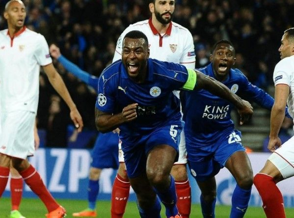 Leicester City have reached the Champions League quarter-finals with a stunning 2-0 victory over Sevilla.  Goals from Wes Morgan and Marc Albrighton proved enough for the Foxes to progress 3-2 on aggregate in a game with saw Samir Nasri sent off and Steven N'Zonzi miss a late penalty which would   #Champions League #Leicester City #Sevilla #Sports