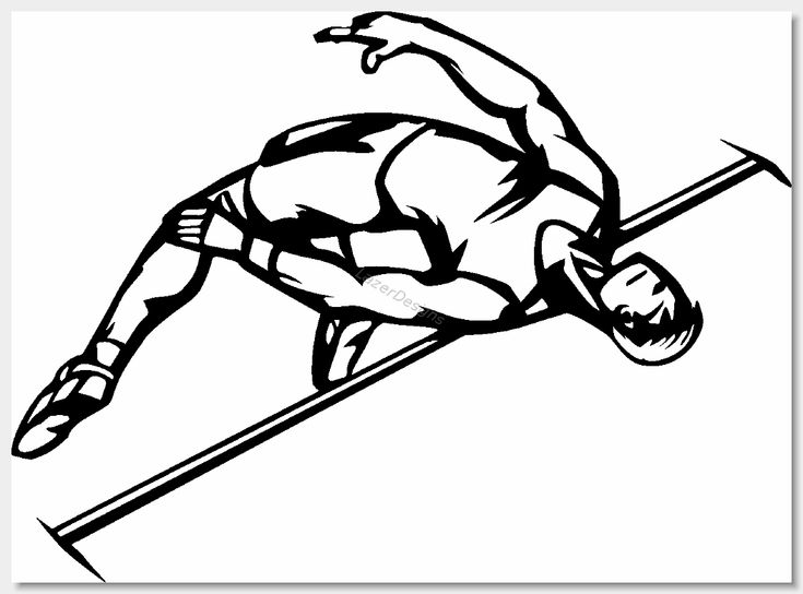 Image result for track and field clipart black and white
