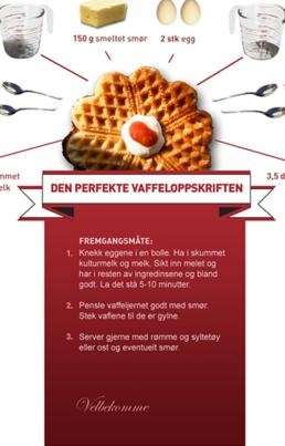 17. mai vafler (norwegian). A must on a day like this. Better than the more famouse Belgian waffles. In Moss they eat hot dogs in waffles. Strange....