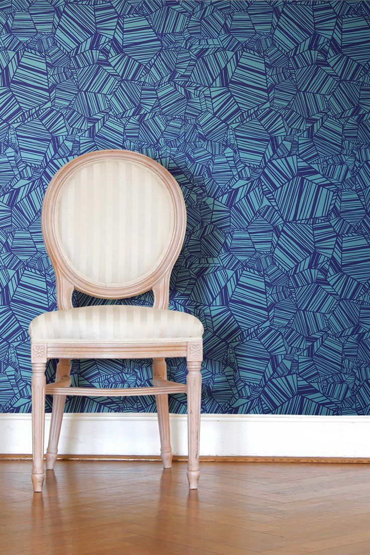 Pyrite Removable Wall Decal - Blue on HauteLook