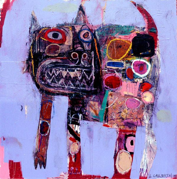 morna:  I love this cat, wonder if he says MEOW. :-) artistjournals:  Lyle Carbajal