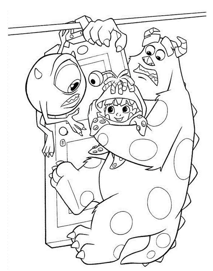 34 best Coloring Pages (Monsters, Inc.) images on Pinterest ...