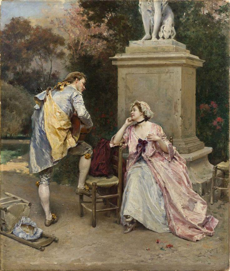The Serenade, Raimundo de Madrazo y Garreta (1841 – 1920)
