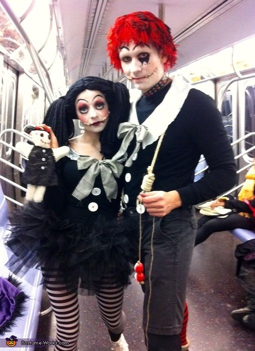 Magdalena: It's me and my husband during NYC Halloween parade. We both love Tim Burton movies and always looking for a cool couple costume ideas. I used our old clothes mostly,...