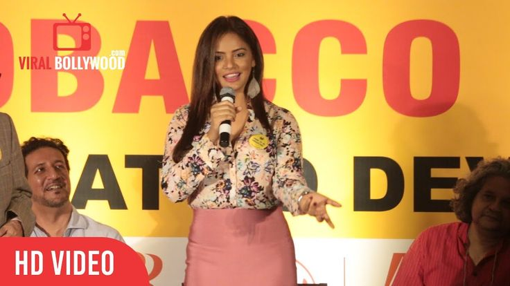 Neetu Chandra At NO Tobacco Day CPAA World Health Organization