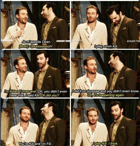 Dean O'Gorman and Aidan Turner. Yeah, they're brothers all right.