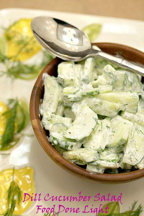 Sour Cream Dill Cucumber Salad | Recipe | Cucumber Salad, Sour Cream ...