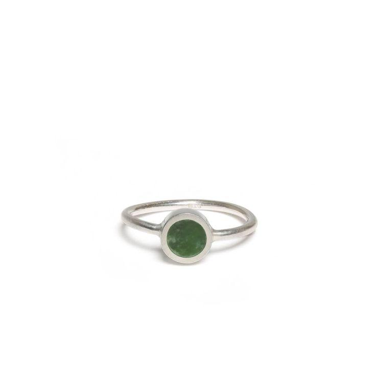 New Zealand Jade Small Disc Ring