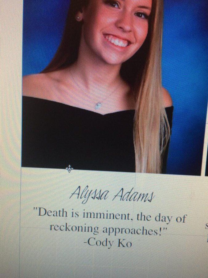 Alyssa Adams On In 2020 Senior Quotes Hope Quotes Yearbook Quotes