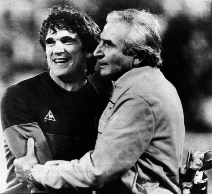 Arconada & Miguel Muñoz (Coach)