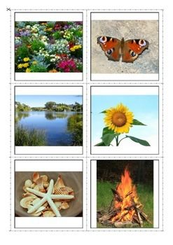 Summer Vocabulary Flash Cards- great for learning vocabulary on summer topic through different matching picture to picture activities and memory games as well as for reading and spelling activities. #Summer