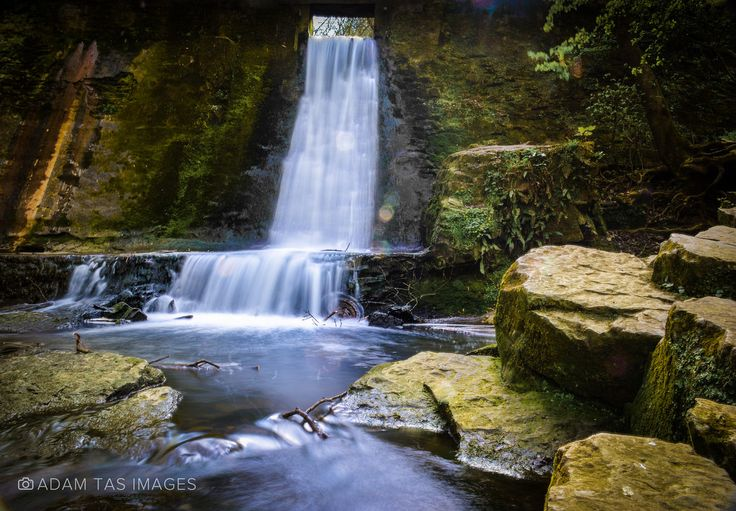 Waterfall in Wepre Park, Connah's Quay, Wales, UK. Little local gem.   #wales #adamtas #photography #adamtasimages #nikon #hoya #ndfilter #waterfall #nature #cymru #clwyd #deeside #bestofwales