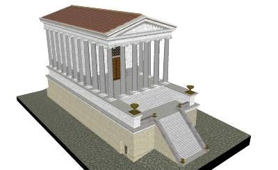 Temple of Saturn. The state treasury, Aerarium, was held in the temple under the stairs that were right in front of the podium. Another affair that went on in the temple was the sacrifice for Saturnalia and also the releasing of the bonds on the statue of Saturn, both were done on Saturnalia. Saturnalia is a Roman holiday that they celebrated on December 17-23 in honor of the god Saturn. Saturn was the god of agriculture which is where the Romans got their wealth.