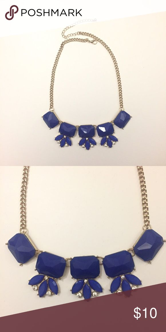 Royal blue and gold necklace Beautiful royal blue and gold necklace. Worn once. Tagged under Brandy Melville for exposure! Brandy Melville Jewelry Necklaces