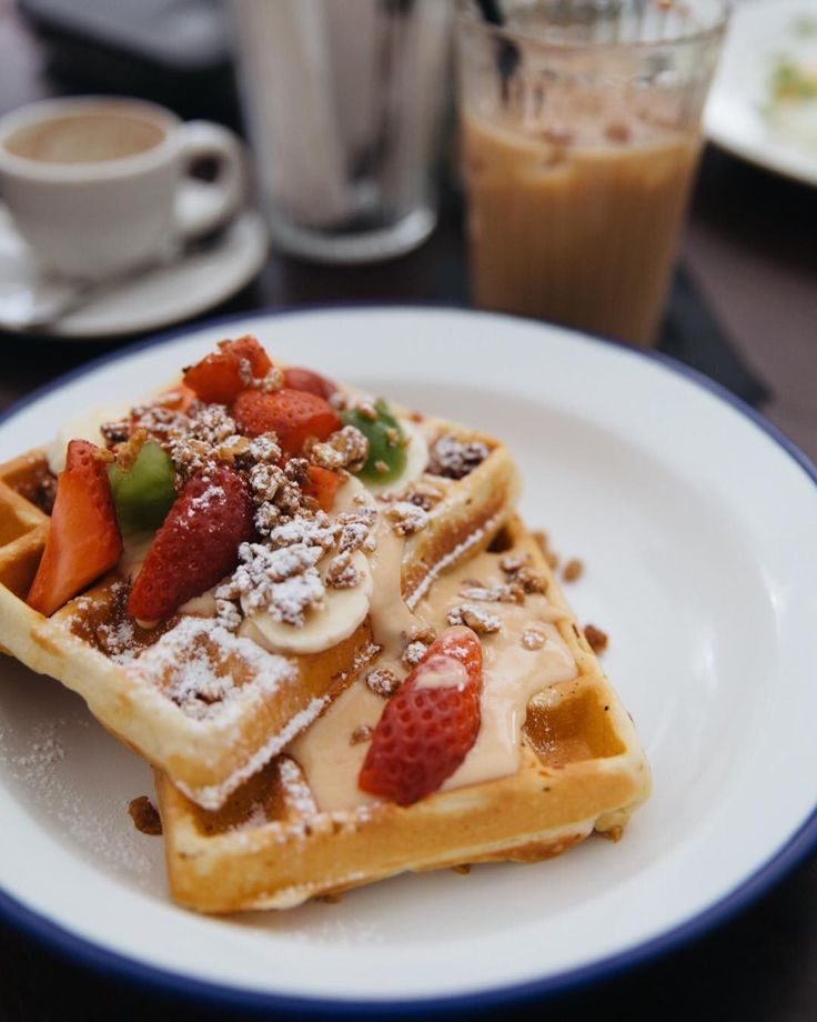 I rarely pick a sweet breakfast but these caramel waffles with fresh berries balanced savoury and sweet perfectly