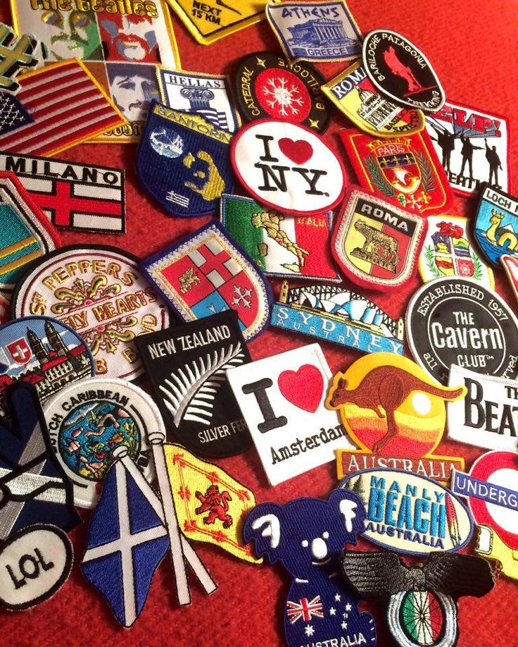 My patch collection not only shows my passion for travelling, but it also tells how I love adding my own touch to the clothes I buy.