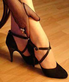 Zapatos femeninos para tango.