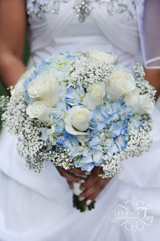 JFP Wedding Bouquet flowers  Wedding Party & Bridal Bouquet Flower Ideas. Love this look, except with white or pink hydrangeas.