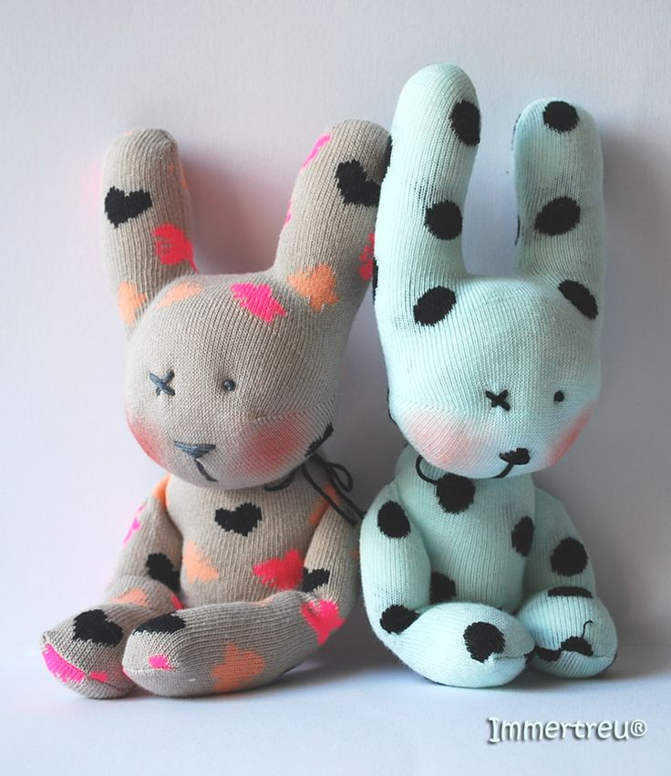sock rabbits by Immertreu®