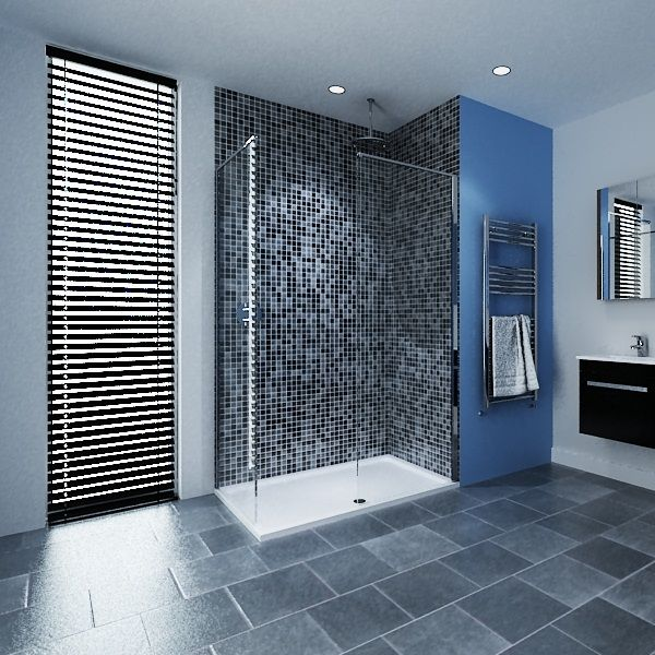 Minimalist Walk-in Shower Enclosure...Dynamically symmetrical and defiantly for the modern designer!