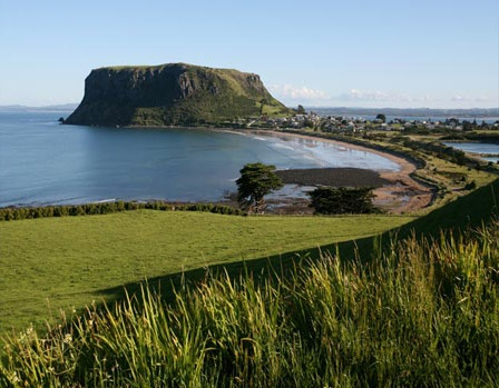 The Nut at Stanley, Tasmania, is the plug of an extinct volcano, which stands 150mts high.