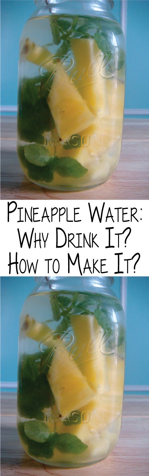 I'm sure most of you are familiar with lemon water. And I know most of you know that you need to drink 8oz of water per day (at least that's the gold standard). Lemon water is arguably the best beverage you can get in the morning. But don't underestimate pineapple water.
