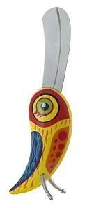 Pylones Tropical Bird Butter Knife / Cheese Spreader, Yellow Multi-colored