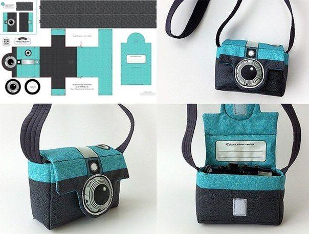 Ideas para el hogar: Funda de cámara de fotos en género ó fieltro costura simple