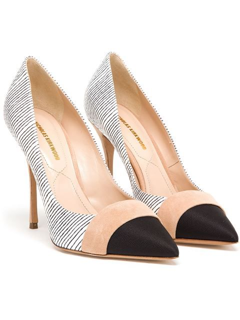 #NICHOLASKIRKWOOD Striped Leather Pumps #Farfetch.com