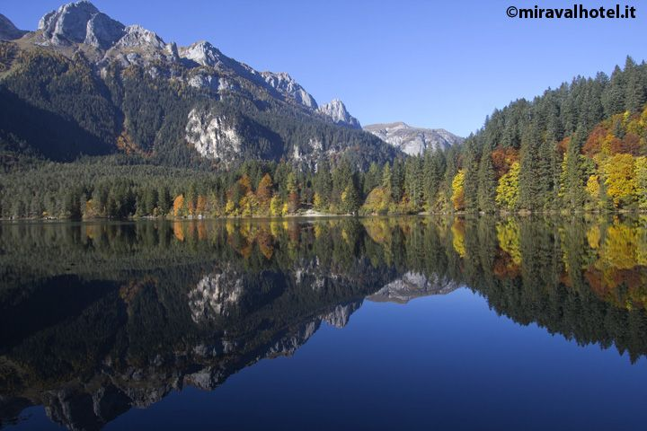 Tovel Lake in autumn #valdinon #trentino