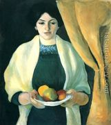 Portrait with Apples- Wife of the Artist 1909  by August Macke